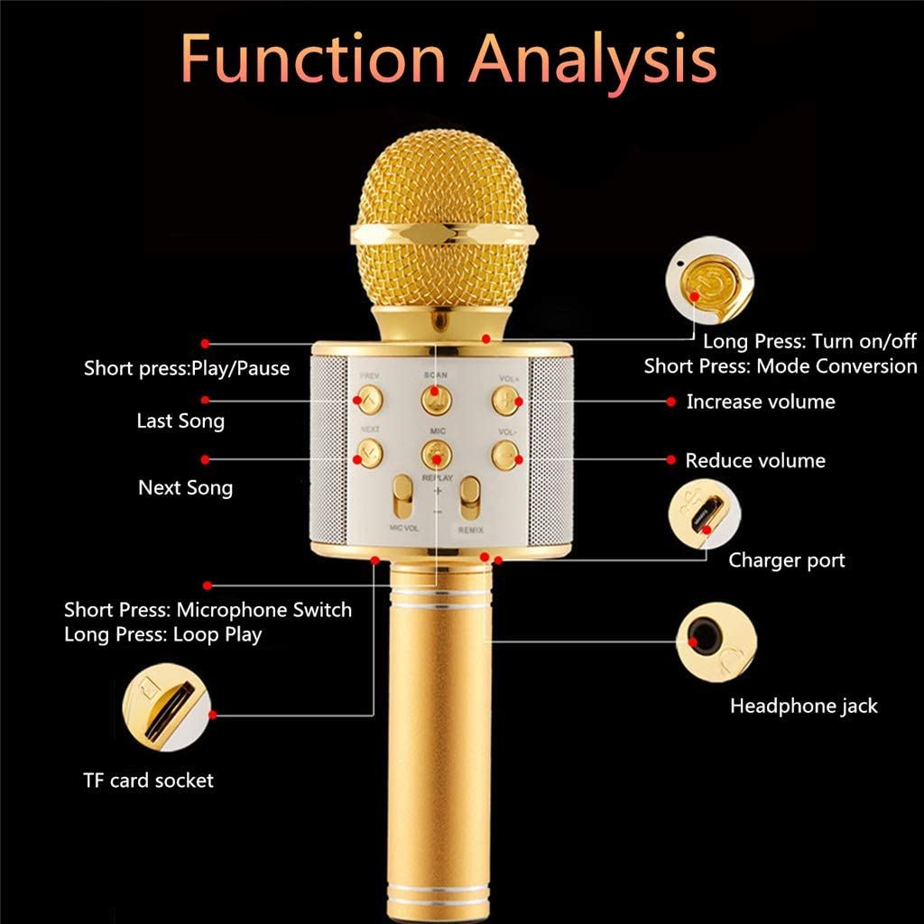 GUMEI Wireless Portable Bluetooth-Karaoke-Mikrofon-Gesangsmaschine