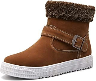 2019 Mens New Lace-up Flats Ankle Boots for Men Cotton Shoes Pull On Durable Comfortable Suede Round Toe Rubber Sole Monk Strap Soft Vegan Non-Slip Stitching Platform Fleece Lined