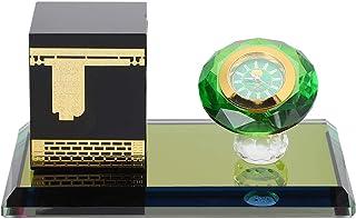 Garosa 8x12x6cm modèle de Kaaba Musulman avec Montre, Ornement de Voiture de Bureau Islamique Musulman décoration de Table...