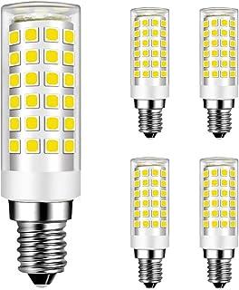 MENTA Bombillas LED E14 9W Equivalente a 75W Halógena, Blanco Frío 6000K, 750 lúmenes, 9W E14 Lámpara Bombilla, 220-240 VAC, No Regulable, Larga Duración, Alto Brillo, Pack de 4