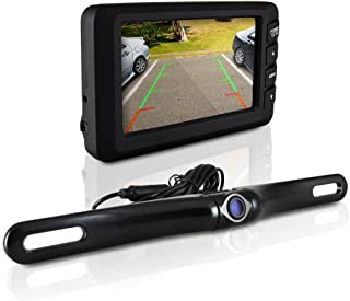Wireless Rearview Backup Car Camera – Car Monitor System, Parking Reverse Safety Distance Scale Lines, Waterproof Night Vi...