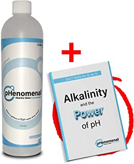 Phenomenal Alkaline Water Concentrate 16oz, Makes 4 Gallons of 11pH+, Original/Tasteless