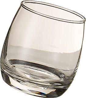 Sagaform Bar Rocking Whisky Glas, 6er Set weiss