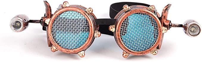 Steampunk Accessories | Goggles, Gears, Glasses, Guns, Mask Lelinta Steampunk Kaleidoscope Goggles Rainbow or Barbed Wire Lens  AT vintagedancer.com