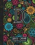 2022 - 2026 Monogramma D Pianificatore: Agenda 5 Anni I Nome Iniziale D I Regalo Calendario I Rubrica I Note I Lista di cose da fare I Annuale e Mensile I Pianificatore Quinquennale