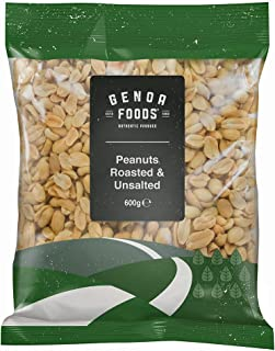 Genoa Foods Peanuts Roasted Unsalted, 600 g, Peanuts Roasted Unsalted