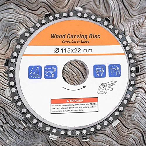 3PCS hojas de sierra circular para 115 mm, carburo de disco de esculpir de madera para amoladora angular Speedcutter, disco amoladora de madera para esculpir, cortar, moldear