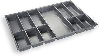 comprar comparacion Orga-Box Cubertero Gris Plata para Cajones de 80 cm p.ej. Nobilia Desde 2013 (473,5 x 694 mm) Cubertero III