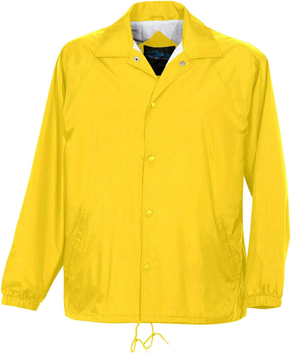 Yellow Gold Color - 6 Sizes - Coach Jacket Men's Big and Tall Flannel Lining