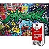 GREAT ART Foto Mural Decoración Graffiti 336 x 238 cm - Papel Pintado 8 Piezas incluye Pasta para pegar