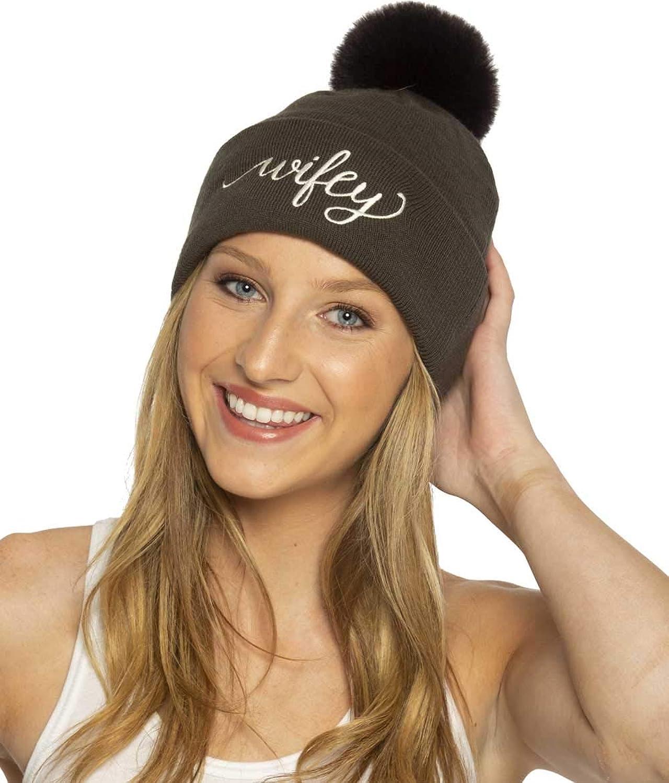 The Paisley Box Wifey Pom Hat