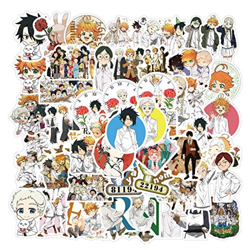 YZFCL Agreed Neverland Anime Doodle Sticker Suitcase Laptop Insulation Cup Sticker 50pcs
