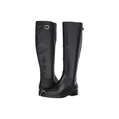 Cole Haan Harrington Grand Riding Boot (Black Leather) Women