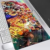 One Piece XXL Anime Alfombrilla para ratón 800 x 300 mm - Speed Gaming Mousepad - Mouse Pad para Ordenador - 3mm Goma Antideslizante, para Gamers Ordenador, PC-D_400x900x3MM