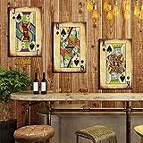 FYBSNDY Poker Karten Leinwand Gemälde Wandkunst Wohnkultur