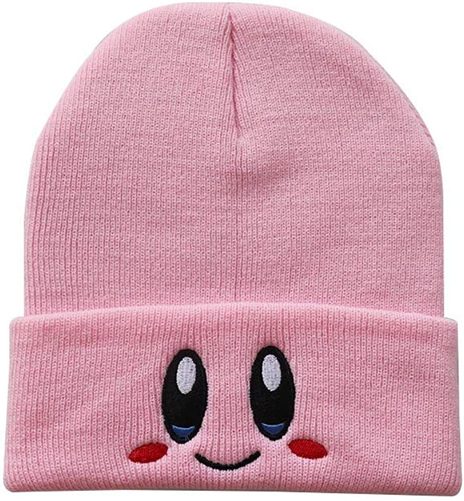 Kirby Skullies Lovely Face Beanie Hat Embroidered Knit Cap