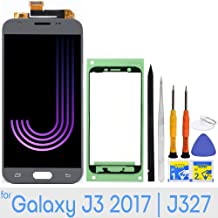 LCD Screen Replacement Touch Digitizer Display for Samsung Galaxy J3 2017 Prime/Emerge/Eclipse J327 J327A J327V J327P J327T1 J327R4 with Repair Tools & Adhesive Tape (Gray)