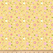 Riley Blake Designs Penny Rose Sweet Baby Girl Flowers Yellow, Fabric by the Yard