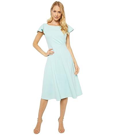 Calvin Klein Short Sleeve A-Line Dress with Seam Detail (Seaspray) Women