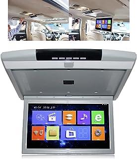"""Upgrade 7.1.2 Monitor de teto do carro 15""""1080p 4k,Car TV Video Player,Projeção de tela do celular android/ios, 12v-32v un..."""