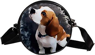 Coosun Umhängetasche für Kinder und Damen mit Wasserfarben-Tiermotiv, rund, Schultertasche