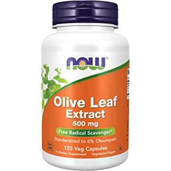 Now Foods Supplements, Olive Leaf Extract 500 mg, Free Radical Scavenger*, 120 Veg Capsules