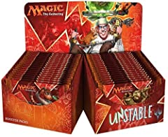Display box of 36 booster packets Unstable contains 15 randomly inserted silver-bordered cards per booster pack A silver-bordered, non-tournament-legal product
