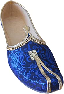 Kalra Creations - Zapatillas de Estar por casa de Seda para Hombre