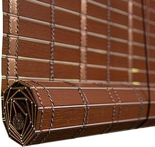 QIANDA Persianas Venecianas Enrollables Impermeable Pantalla De Bambú Persianas Venecianas Persianas De La Ventana Al Aire Libre De Sombra Bloqueando La Luz, Tamaños Personalizables