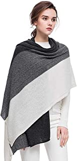 women's 100% pure cashmere scarf Wrap Shawl Winter Extra Large cashmere Scarf contrast color
