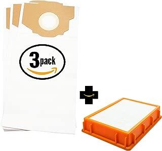 9 Replacement RR Vacuum Bag 61115B & HF-2 HEPA Filter 61111D for Eureka - Compatible with Eureka 4800 series, Eureka 4870MZ, Eureka Boss SmartVac 4870MZ, Eureka 4870DT, Eureka 4870GZ, Eureka 4874AT
