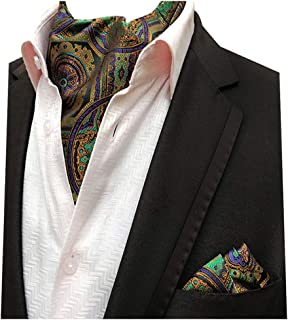 Posh and Dandy Mens Flowers Tie and Pocket Square Set Grey//Multi-coloured