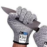 Dowellife Cut Resistant Gloves Food Grade Level 5 Protection, Safety Kitchen Cuts Gloves for Oyster Shucking, Fish...