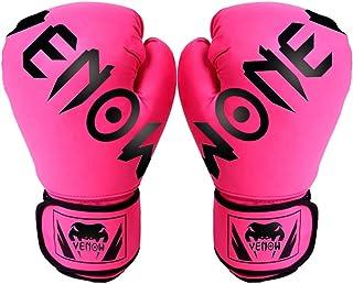 Color : Blanco, Size : 10oz ZHJC Guantes de Entrenamiento de Boxeo Guantes de Boxeo Saco de MMA Guantes de Entrenamiento de Boxeo de 10 onzas Blow para Combatir el Combate de Boxeo