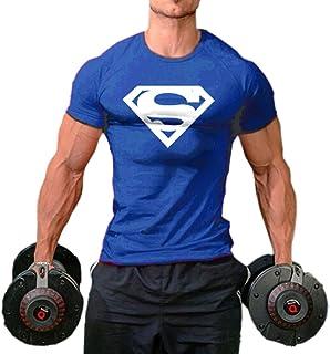 InleaderStyle Men Fittness S Logo Bodybuilding Sport Gym T-Shirts