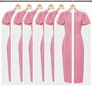 HBselect Lot de 6 PCS Housses de Vêtements Sacs de Protection PEVA Anti-Poussière Transparent Housse, 6 × XXL (140 x 60 cm)