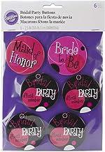 Wilton Bridal Party Buttons