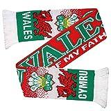 Écharpe de supporter du rugby et du football Pays de Galles (100 % acrylique)