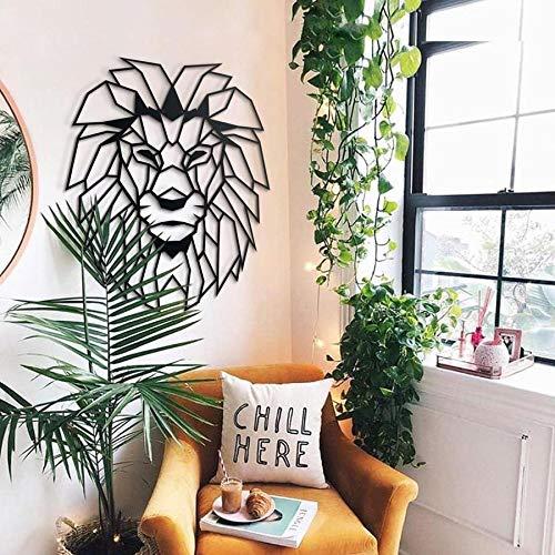 Hoagard Lion Head Metal Wall Art - Decoración geométrica para Pared - León -...