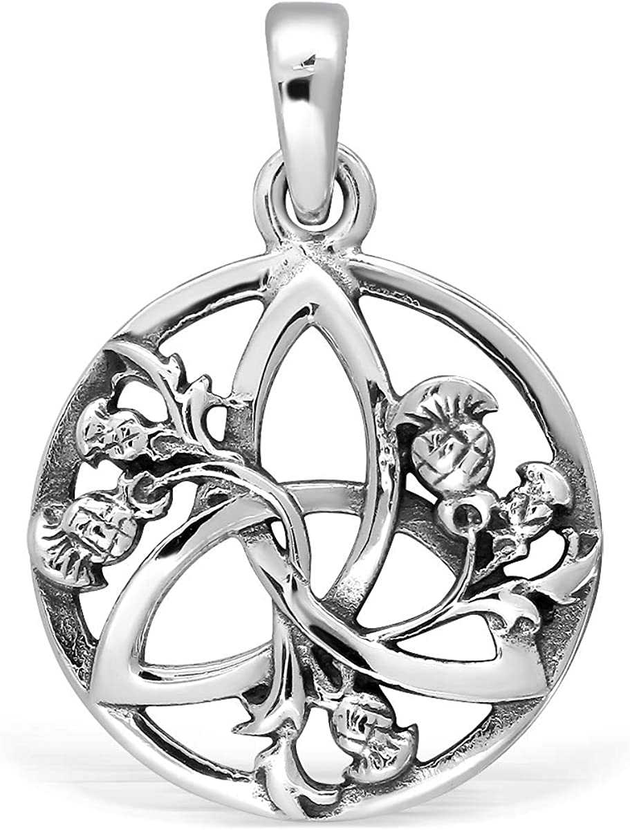 WithLoveSilver 925 Sterling Silver Round Triquetra Scotti Japan Maker Regular discount New Celtic