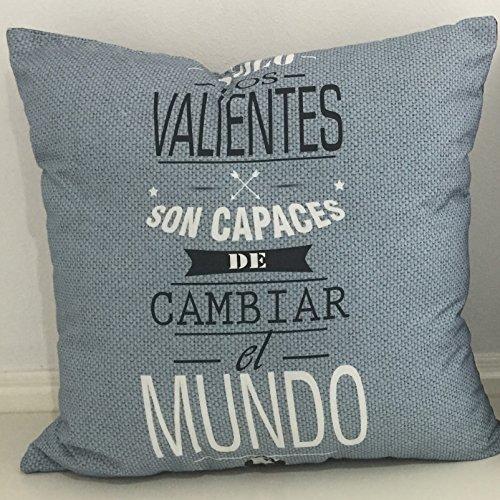 Akopla Funda de Cojín MR. Wonder de Algodón Suave Cuadrada 45x45 con Cremallera Rosa para Decoración de Cama, Silla, Dormitorio, Sofá.