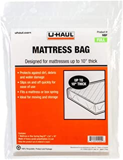"""U-Haul Full Mattress Bag - Moving and Storage Protection for Mattress or Box Spring - 87"""" x 54"""" x 10"""" Bag"""
