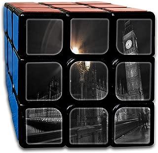 Speed Cube London Big Ben Clock Amazing 3 X 3 Magic Cube For Children Intelligence Toy (Sticker)