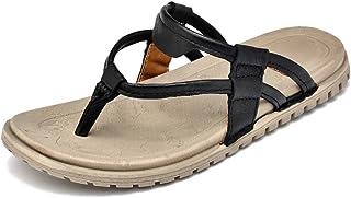 AiHua Huang Men's Flat Heel Slip on Classical Casual Slipper (Color : Black, Size : 7.5 UK)