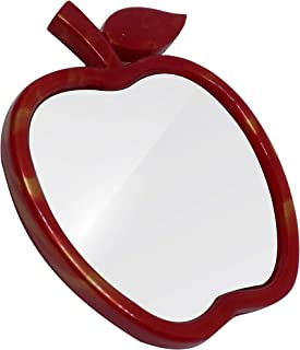 Majik Designer Table Mirror with Stand for Home and Parlor Use (Red, Medium)