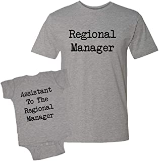 Regional Manager & Assistant to The Regional Manager - Baby Bodysuit & T-Shirt Matching Set