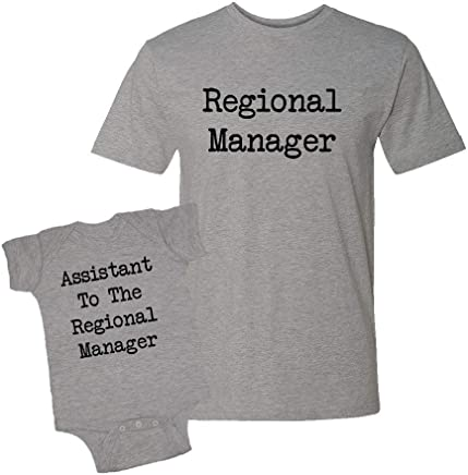 Mashed Clothing - Regional Manager & Assistant to The Regional Manager - Infant Bodysuit & T-Shirt Matching Set