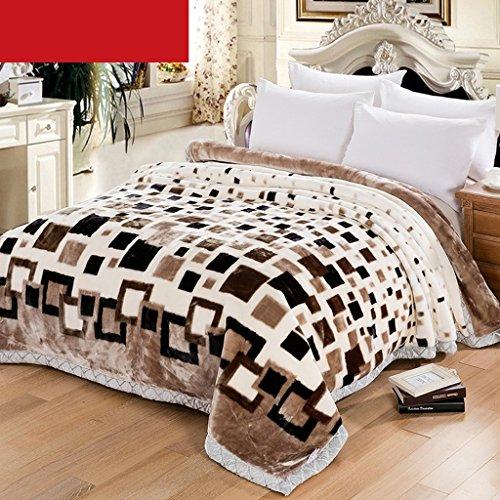 Wddwarmhome Couverture Blanket Blanc Couvert de Chambre à Coucher Couvert de Couverture de Loisir de Quatre Saisons Douce et Confortable Double Isolation Couvertures (Taille : 175 * 215cm)
