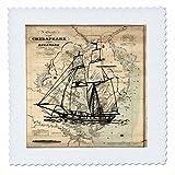 3dRose QS 204904_ 1Print of Vintage Chesapeake Bay mit