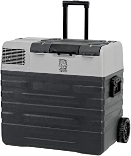 62L Brass Monkey Portable Fridge or Freezer with Solar Charger Board Plus Handles + Wheels and Supports Removable Battery
